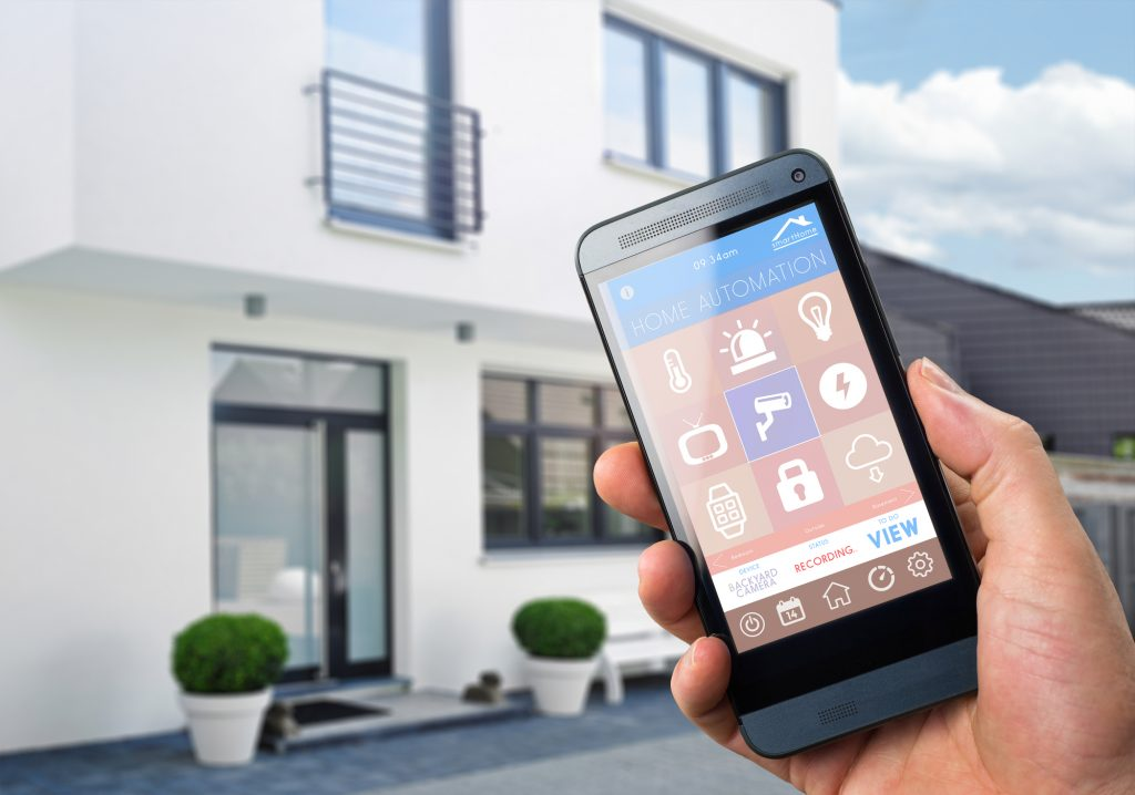 Controlling a smart home with a phone